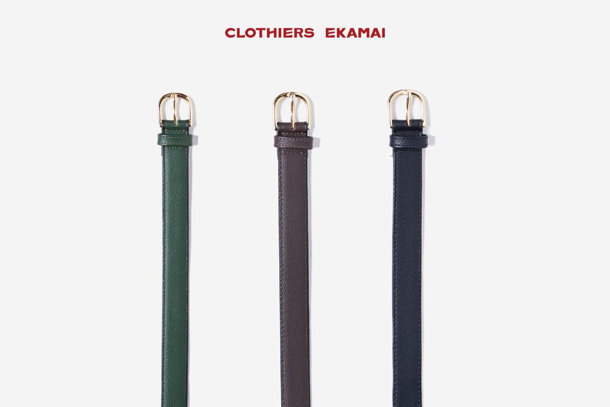 Clothiers Ekamai Slim Leather Belt 2021